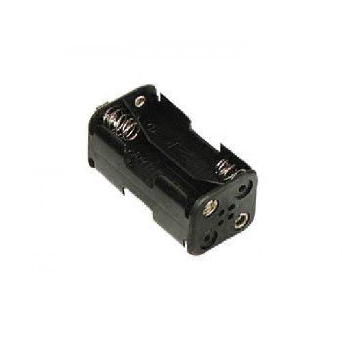 Μπαταριοθήκη 4 x AA μπαταριών με κλιπ BH0016C