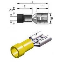 Ακροδέκτης συρταρωτός κίτρινος θηλυκός με μόνωση F5-6.4/8 6,4mm