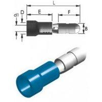 Ακροδέκτης κουμπωτός μπλε αρσενικός με μόνωση BD2-4V