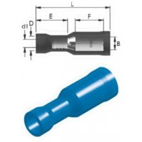Ακροδέκτης κουμπωτός μπλε θηλυκός με μόνωση RE2-4VF CHS