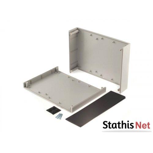 Κουτί πλαστικό IP54 225x165x65mm γκρι με αποσπώμενη πρόσοψη G748 Gainta