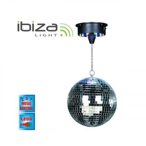 Φωτιστικό Ντισκόμπαλα Φ20cm + motor + 18 led DISCO1-20 Ibiza