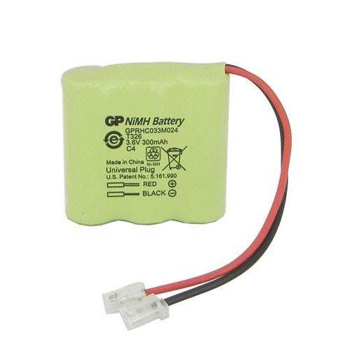 Μπαταρία pack 3 pcs x 2/3 AAA 3.6V 300mAh Ni-Mh με universal plug Code S 30AAAM3BMU GP