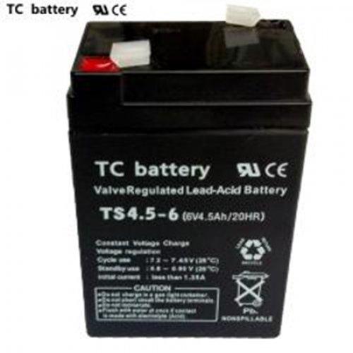 Μπαταρία 6V 4,5Ah μολύβδου TS4,5-6 TC Battery