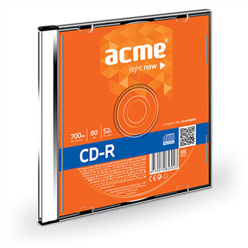 Cd -R data 52x 700ΜΒ slim 1pcs Acme