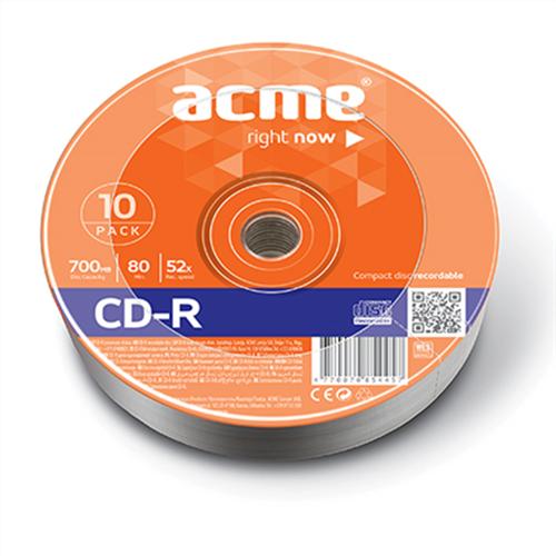 Cd -R data 52x 700ΜΒ κουτί 10pcs Acme