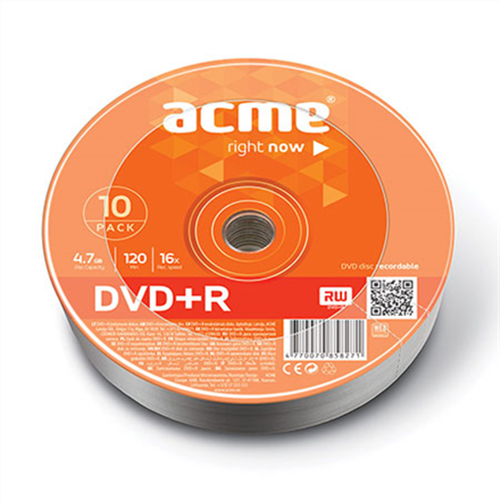 DVD+R 4.7GB 16X BOX 10pcs ACME