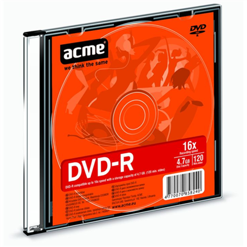 DVD-R 4.7GB 16x slim 1pcs Acme