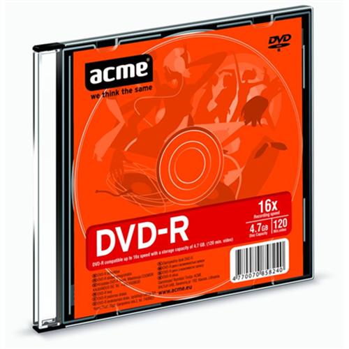 DVD-R 4.7GB 16X SLIM BOX 1pcs ACME