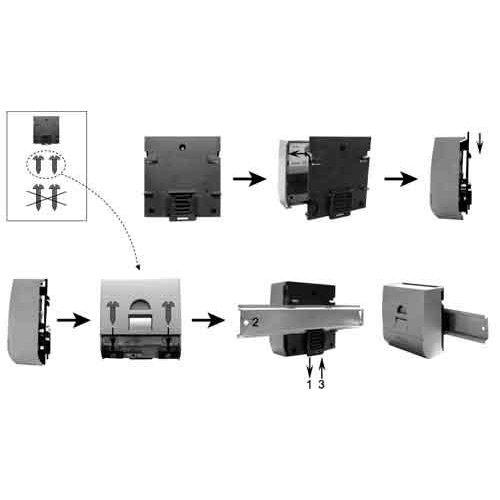 Βάση στήριξης ράγας για ρυθμιστή φόρτισης  CML-CX-CXN CX-DR2-DIN PHOCOS