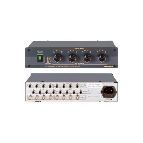 Matrix Switcher 4 In x 4 Out Composite Video & Stereo Audio (265MHz) VS-6EIII Kramer