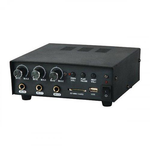 Ενισχυτής μικροφωνικός Auto 12V 30W 2xMIC/USB/AUX PAA30USB L-Frank