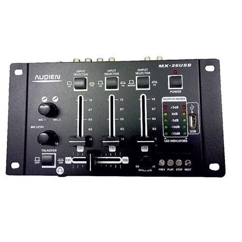 Μίκτης ήχου 3 καναλιών USB MX-26USB Audien