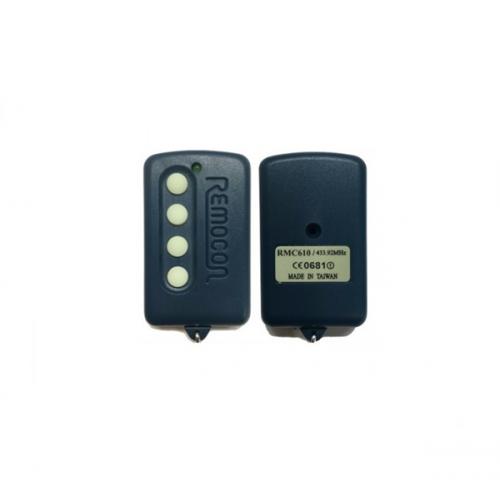Τηλεχειριστήριο 4 εντολών γκαραζόπορτας 433,92 MHz RMC-610 Remocon