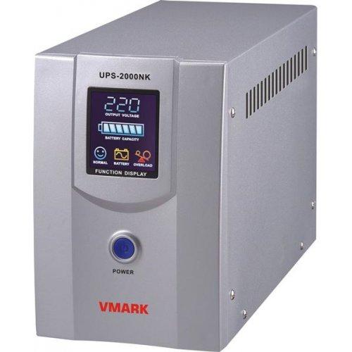 UPS line interactive 2000VA τροποποιημένου ημιτόνου VMARK NK 2000VA VFD DISPLAY ΑΣΠΡΟ