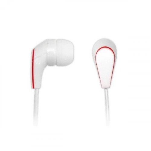 Ακουστικά στερεοφωνικά Handsfree με μικρόφωνο άσπρο AEP-15A  hvt
