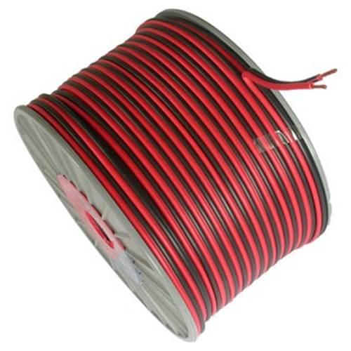 Καλώδιο ηχείων κόκκινο/μαύρο 2x0.50mm SP-050R/A