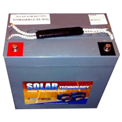Μπαταρία 12V 55Ah  μολύβδου solar βαθιάς εκφόρτισης DAB12-55Sol Dyno Europe