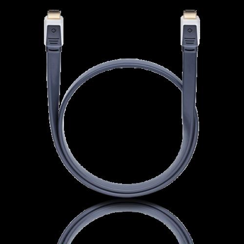 Καλώδιο HDMI αρσενικό -> HDMI αρσενικό 1.4v 4k flat 5.10m 2485 Oehlbach