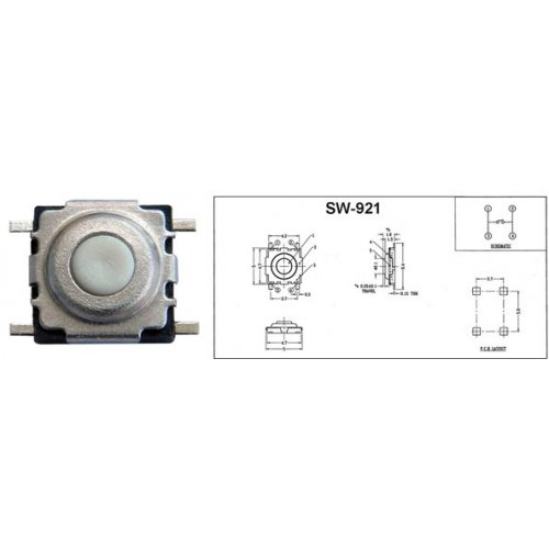 Tact switch mini SMD 1.6mm SW-921