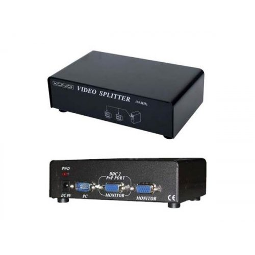 Splitter VGA 1 PC IN->2 Monitor out VGA CMP-SWITCH91 KONIG
