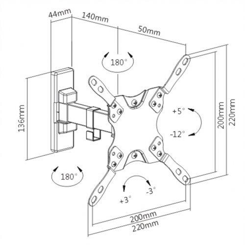 """Βάση LCD-LED 13""""- 42"""" LDA21-221 Brateck"""