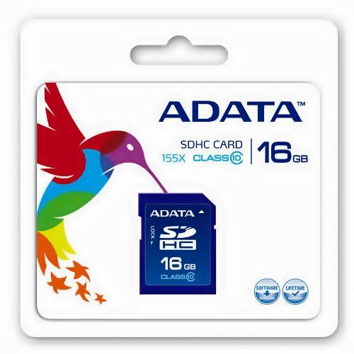 Κάρτα μνήμης SDHC 16GB CLASS 10 ADATA