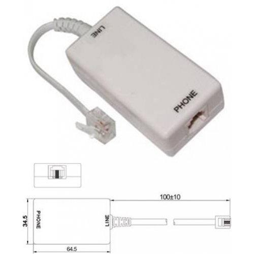 Φίλτρο γραμμής τηλεφώνου VDSL 2 -> PSTN NET-050