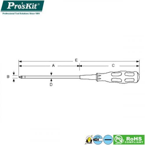 Κατσαβίδι μαγμητικό ίσιο 5x150mm 89416A Pro'sKit