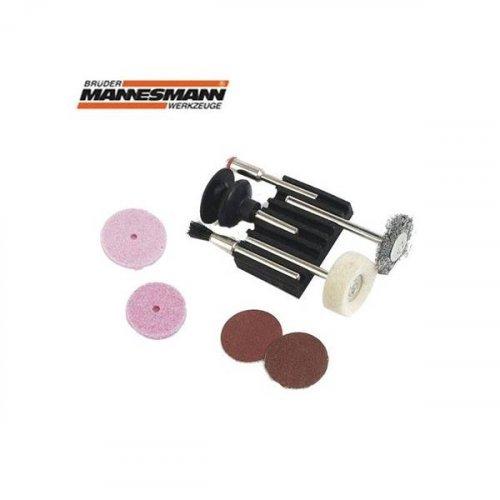 Υλικά Λείανσης γυαλίσματος σετ 9pcs για mini drill 92564 Mannesmann