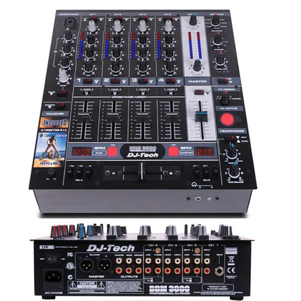 Επαγγελματικός μίκτης DJ 4 καναλιών DDM3000 DJ Tech