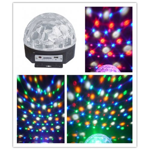 Φωτιστικό Disco ball with remote control 6color LED LB-166