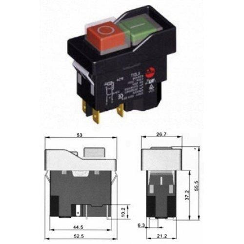 Διακόπτης ηλεκτρομαγνητικός 8A M/RΕΜ KJD17-2 Kedu