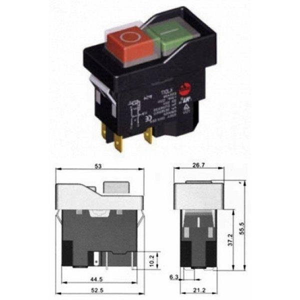 Διακόπτης ηλεκτρομαγνητικός 12A M/RΕΜ KJD17-2 Kedu
