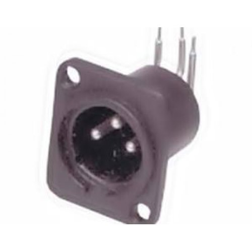 Cannon αρσενικό 3pins PCB σασί πλαστικό LZ148