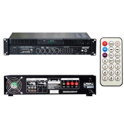 Ενισχυτής μικροφωνικός 60W 100V 3xMIC/USB/FM MPA-060QUF HENTR