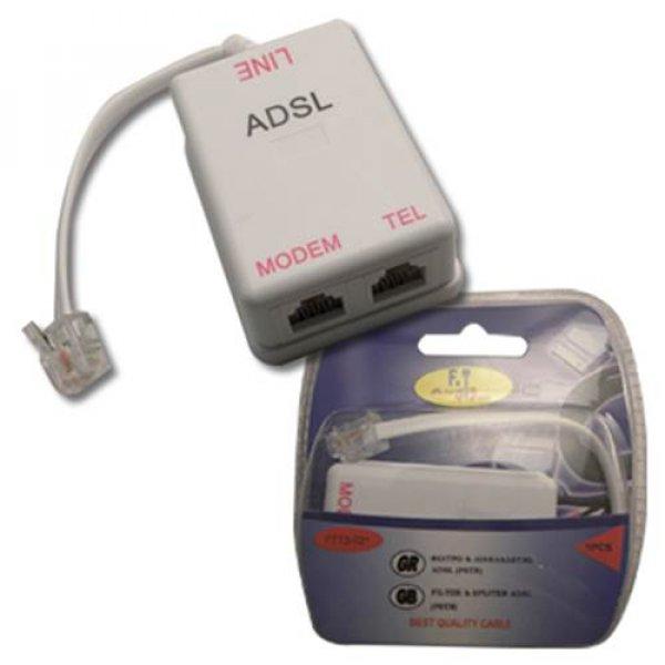 Φίλτρο γραμμής τηλεφώνου + splitter ADSL -> PSTN FTT3-021