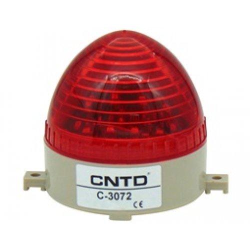 Φάρος strobe μικρός 230VAC κόκκινος 106x103mm LTD3072
