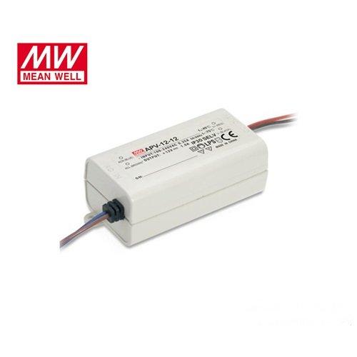 Τροφοδοτικό Led 230V IN -> OUT 12VDC 12W 1.0A IP42 APV12-12 Mean Well