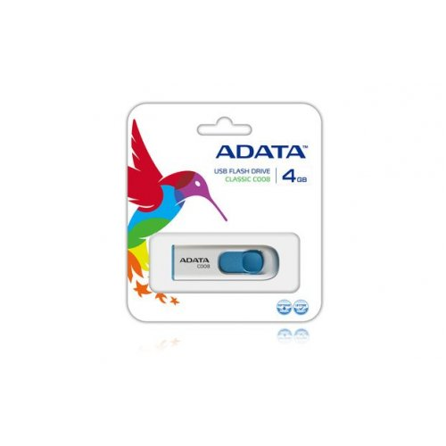 USB flash drive 4GB A-DATA C008 λευκό