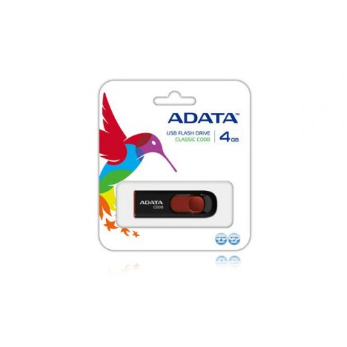 USB flash drive 4GB A-DATA C008 μαύρο