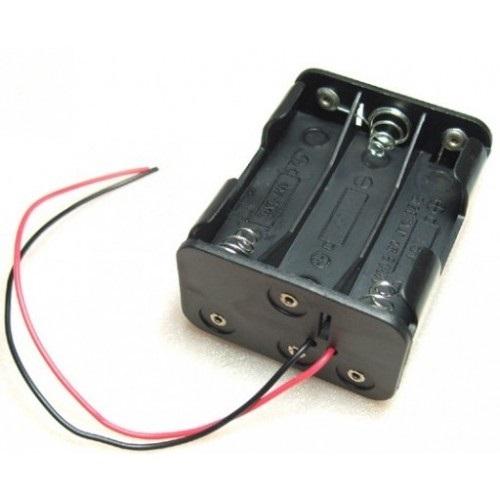 Μπαταριοθήκη 6 x AA μπαταριών διπλή καλωδίου BH0021A