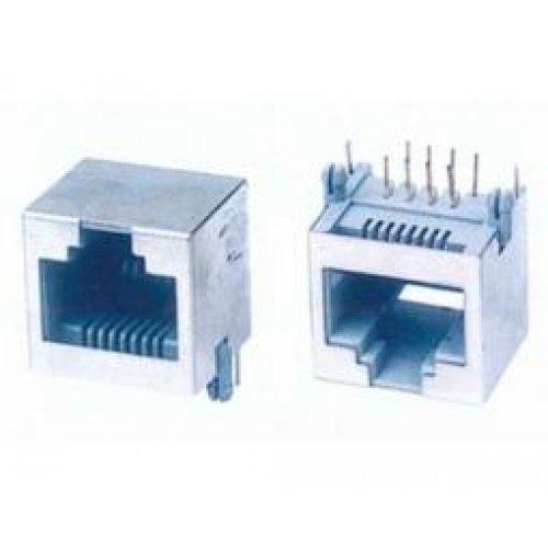 Φις τηλεφωνικό PCB 8P8C κάθετο + θωράκιση ΥΗ-55-11