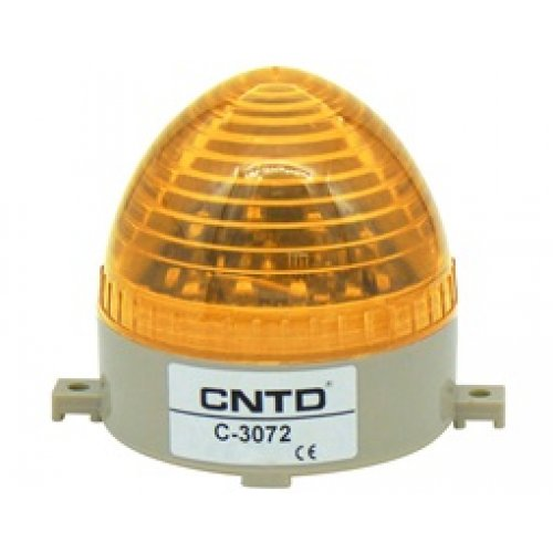 Φάρος strobe μικρός 230VAC κίτρινος 106x103mm LTD3072