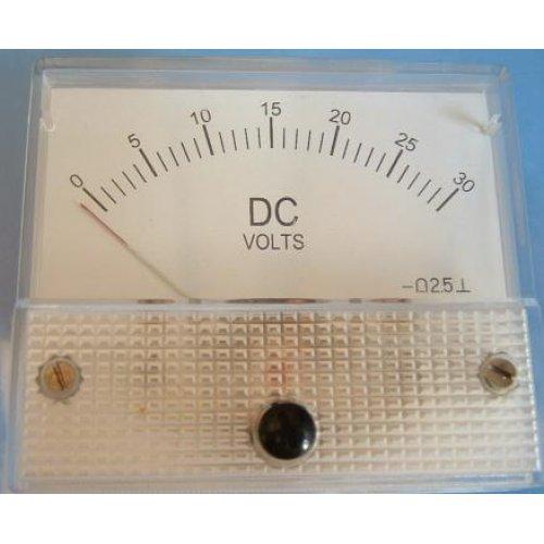 Όργανο πίνακος βολτόμετρο DC 60x60 0-15V SF-60 SFM