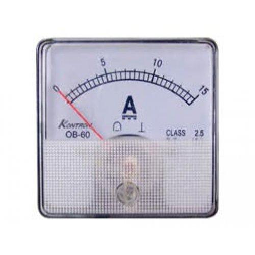 Όργανο πίνακος αμπερόμετρο DC 60x60mm 0-30A χωρίς αντίσταση SHUNT SF-60 SFIM