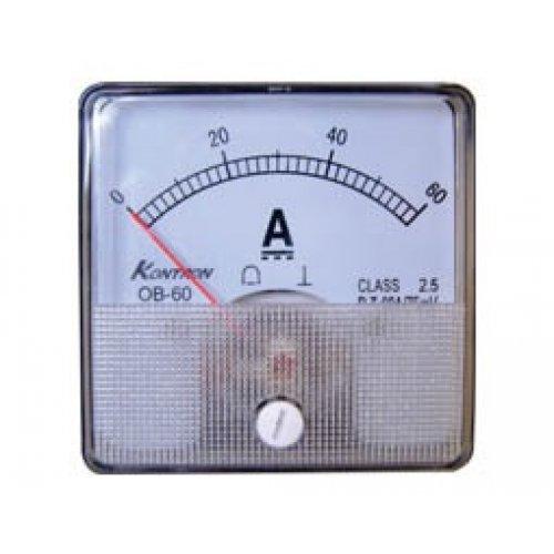 Όργανο πίνακος αμπερόμετρο DC 60x60mm 0-40A χωρίς αντίσταση SHUNT SF-60 SFIM