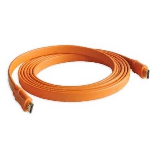 Καλώδιο HDMI αρσενικό -> HDMI αρσενικό 1.4v flat πορτοκαλί 3m CMPLe