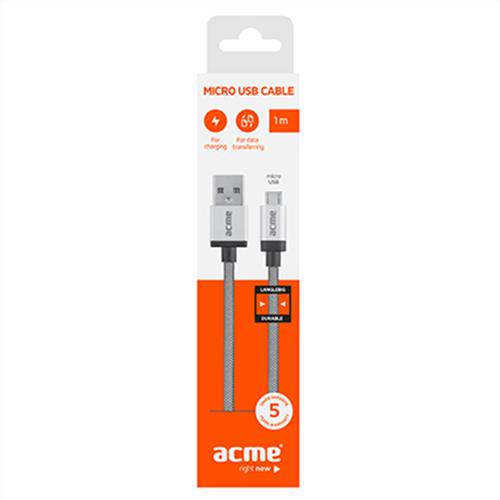 Καλώδιο φόρτισης & συχρονισμού USB A -> USB B micro HQ 1m CB02 Acme
