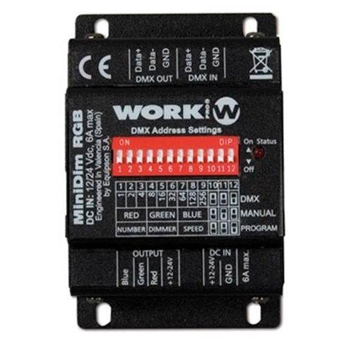 Dimmer work minidim RGB 3Ch controller 6A 12-24V